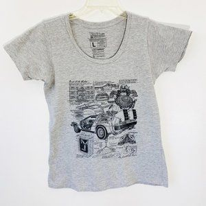BACK TO THE FUTURE ladies fitted graphic tee L